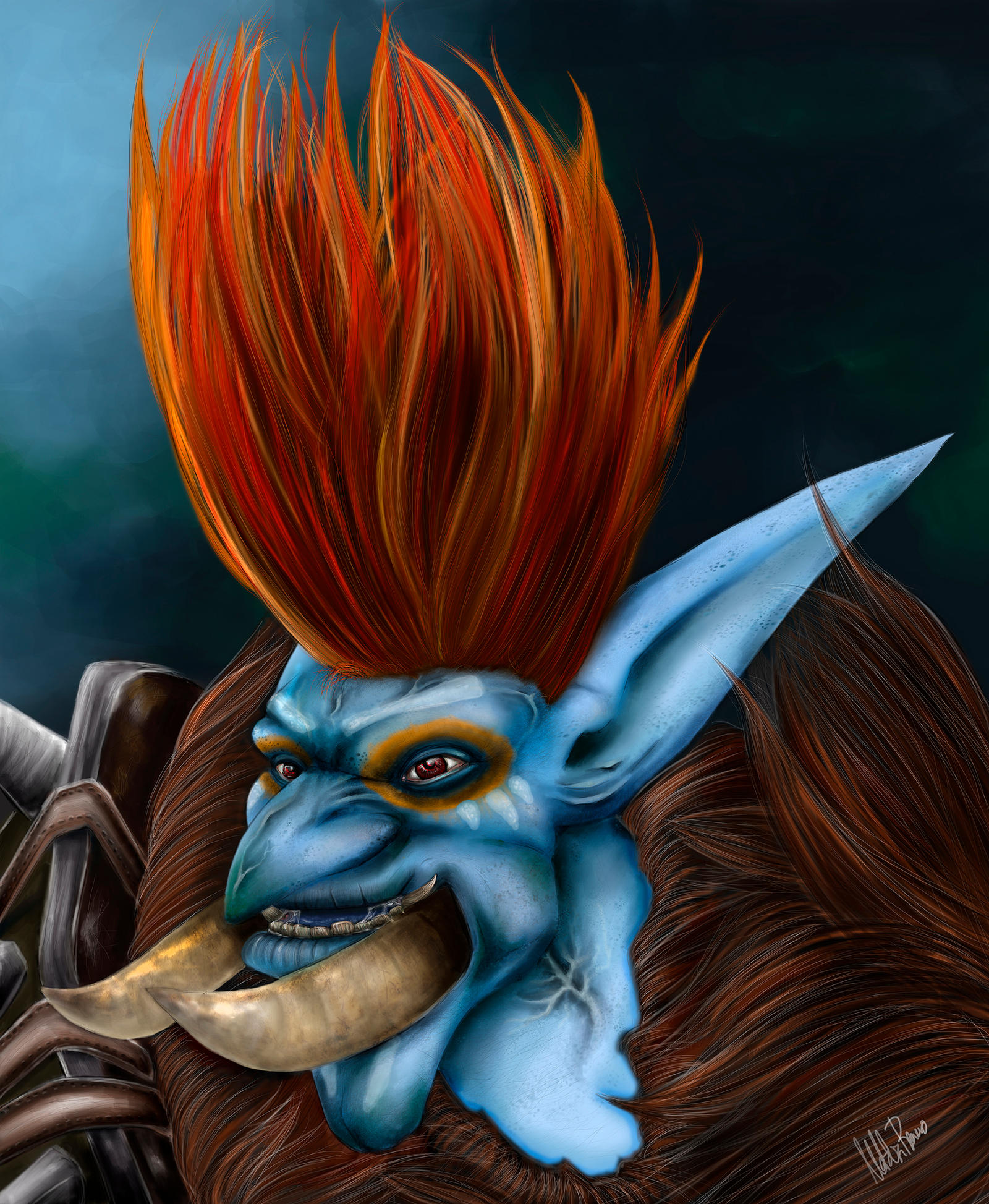 TROLL WORLD OF WARCRAFT by inoxdesign