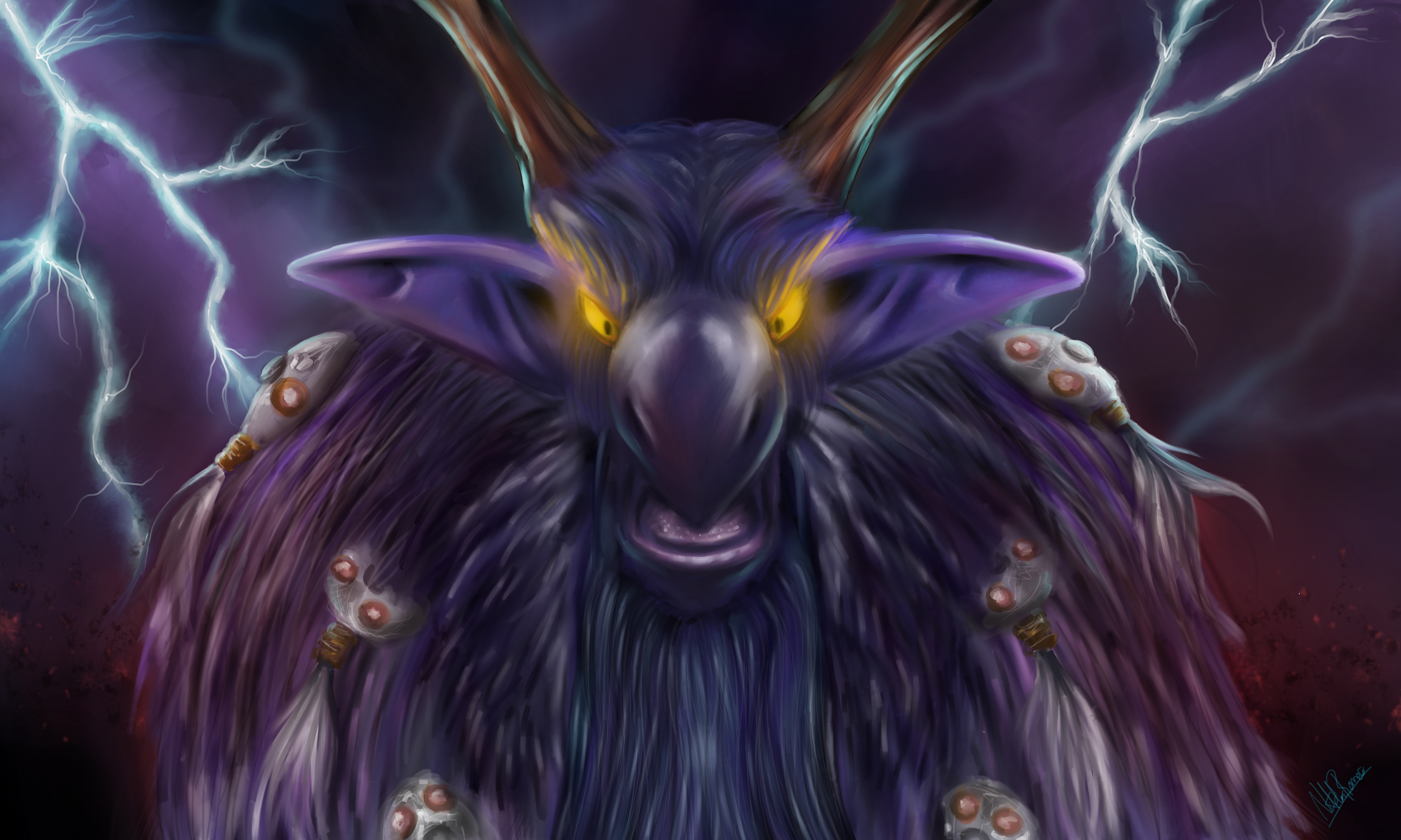 MOONKIN IN THE EYE OF THE STORM by inoxdesign