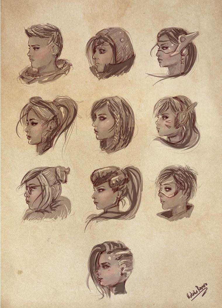 OVERWATCH FEMALE PROFILES by inoxdesign