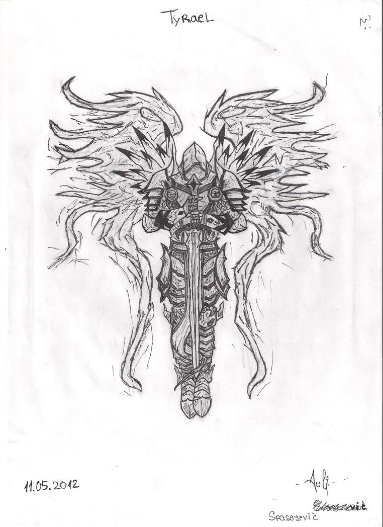 tyrael the archangel of justice pencil drawing by trixogeddon3 on deviantart. Black Bedroom Furniture Sets. Home Design Ideas