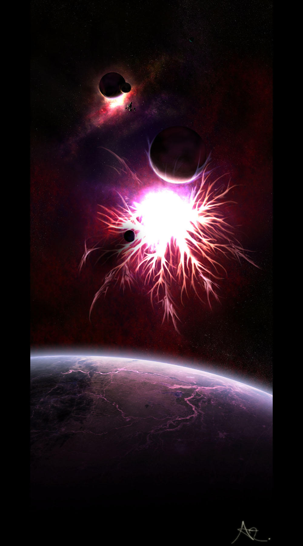 Sfynix Nebula by skurvy