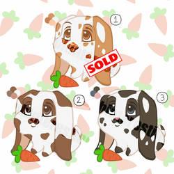 Lop Bunny Adoptables (OPEN/$3 USD each) (1/3) by DI-Adoptables