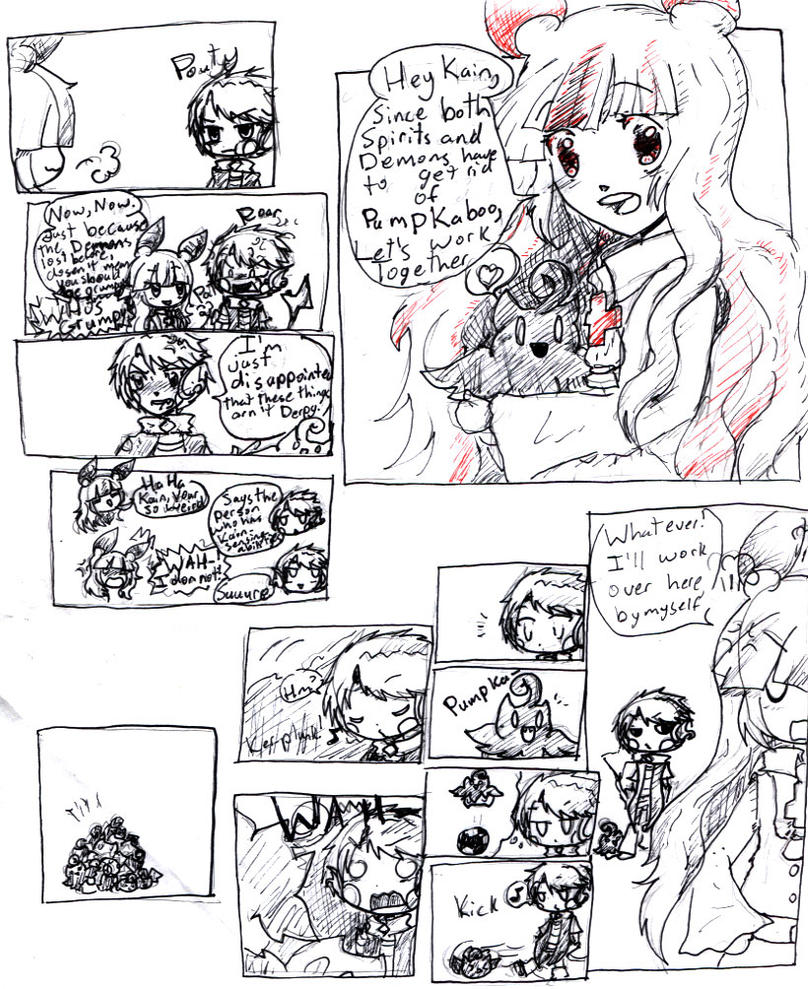 Lyla and Kain comic by DarkHakaru