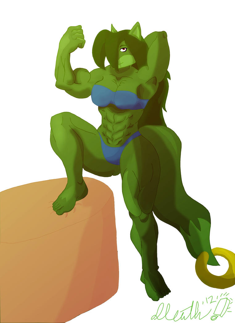 Strong Green Foxy Lady! by the-Sleuth