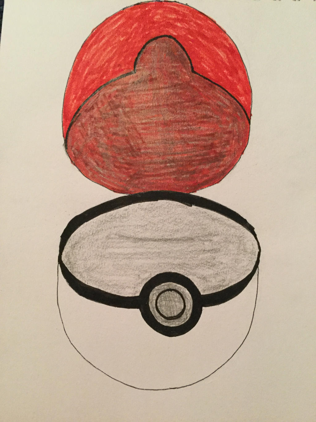 Open Pokeball Drawing By AnyFan1