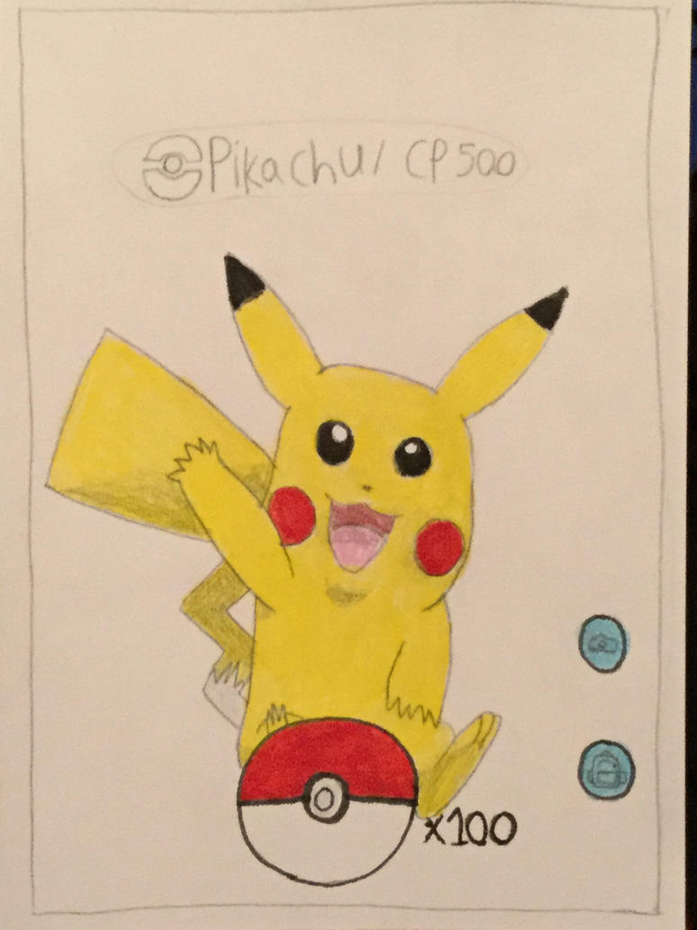 drawing of catching pikachu on pokemon go by anyfan1 on deviantart