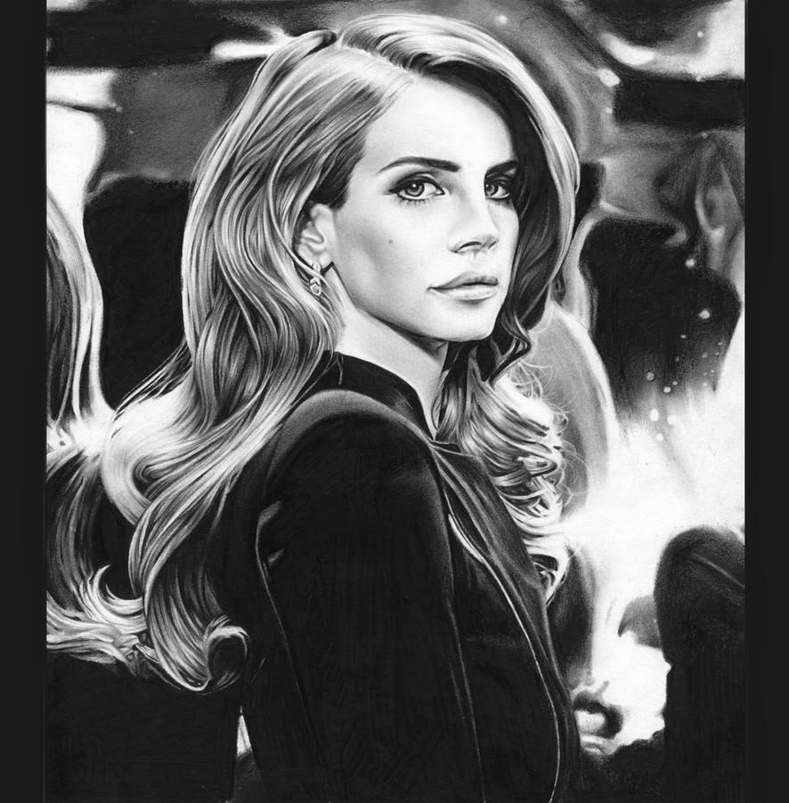 Lana Del Rey- Young and Beautiful by MShah123