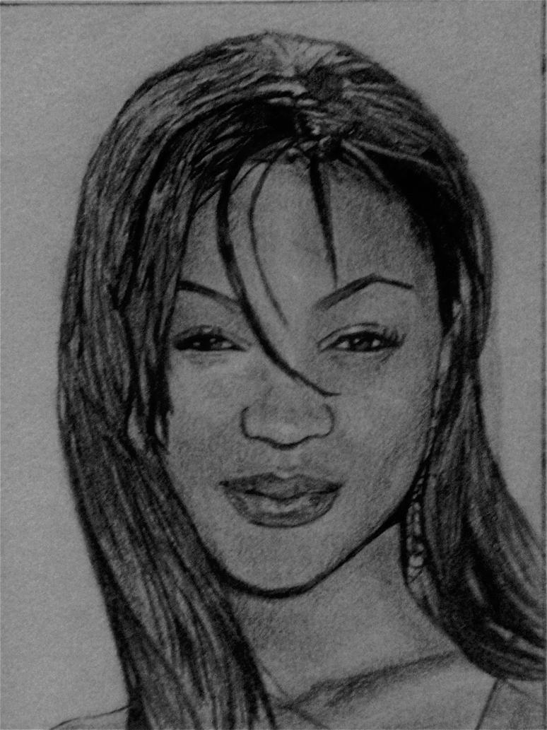My drawing of meagan good by artisticskittles17 on deviantart for Good sketches to draw