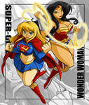 Gimpy Comm Wonder Woman and Super Girl