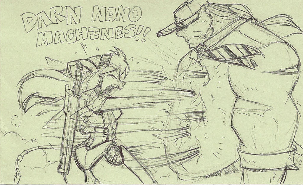 Lunchtime post it doodle: Metal Gear SQUEEK by ShoNuff44