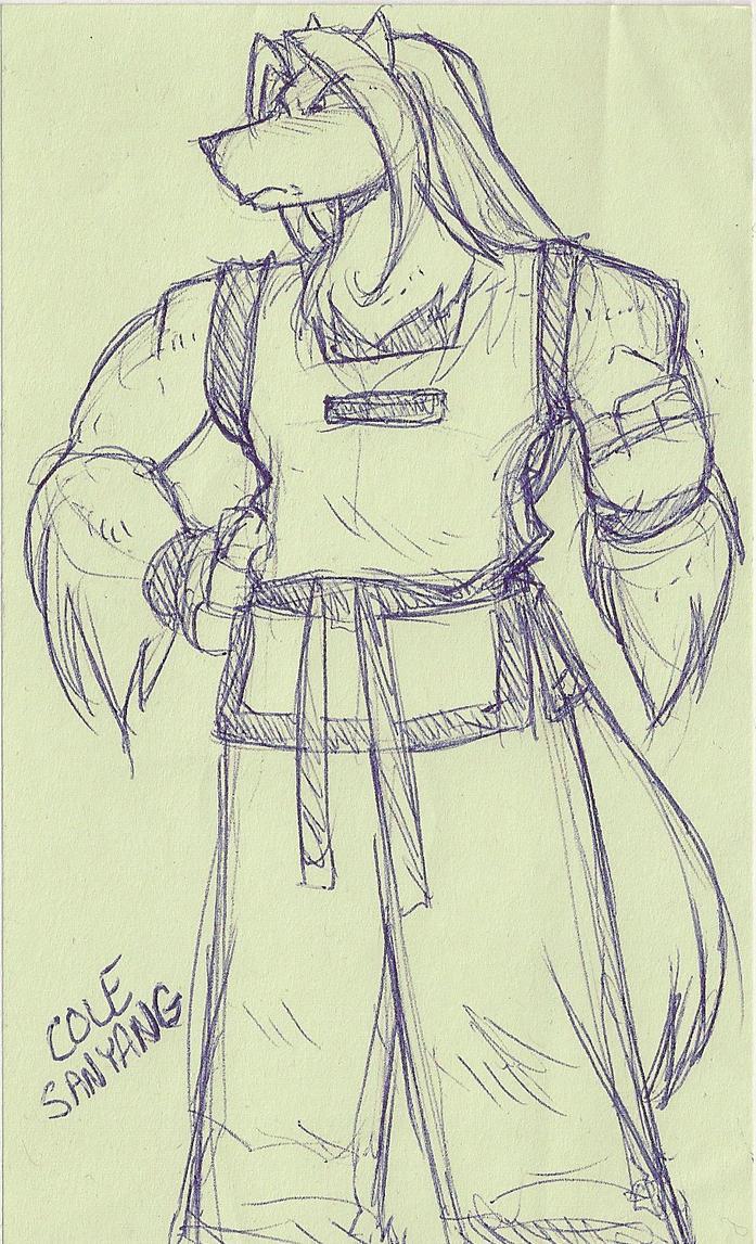 Lunchtime post it doodle: TAEKWONDOG COLE by ShoNuff44
