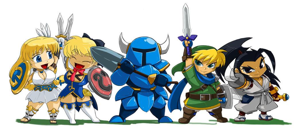 Hero Line Up Sophitia n Cassandria by ShoNuff44