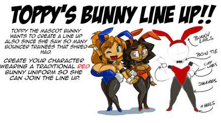 Toppy's Bunnie Line Up by ShoNuff44