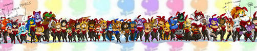 Toppy's Bunnies line up FINAL 48 by ShoNuff44