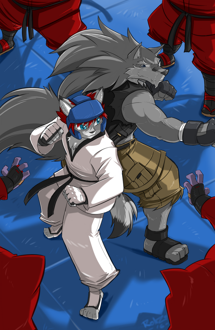 Taryn COMM: Shred and Taryn back to back Battle by ShoNuff44