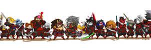 LENORA samurai line up 36 by ShoNuff44