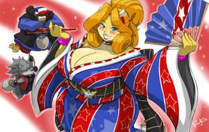 Mrs Bull's Star-Spangled Kimono
