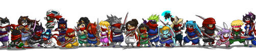 Strider Line Up 33 Fn by ShoNuff44