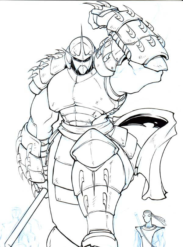 Teenage mutant ninja turtles shredder coloring pages