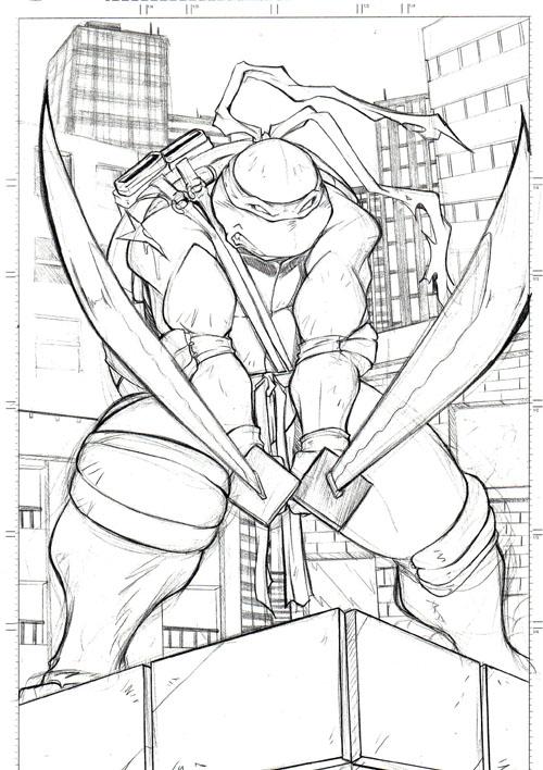 how to draw a ninja turtle leonardo
