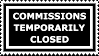 Stamp: Commissions Closed by FantasyStockAvatars