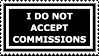Stamp: No Commissions by FantasyStockAvatars