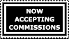 Stamp: Accepting Commissions by FantasyStockAvatars