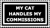 Stamp: Cat Commissions by FantasyStockAvatars