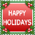 Mini Stamp: Happy Holidays by FantasyStockAvatars