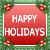 Mini Stamp: Happy Holidays by FantasyStockAvatars