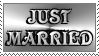 Stamp: Silver Just Married by FantasyStockAvatars
