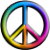 Avatar: 60s Rainbow Peace Sign by FantasyStockAvatars