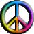 Avatar: 60s Rainbow Peace Sign by FantasyStockAvatars