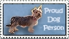 Stamp: Proud Dog Person by FantasyStockAvatars