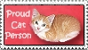 Stamp: Proud Cat Person by FantasyStockAvatars