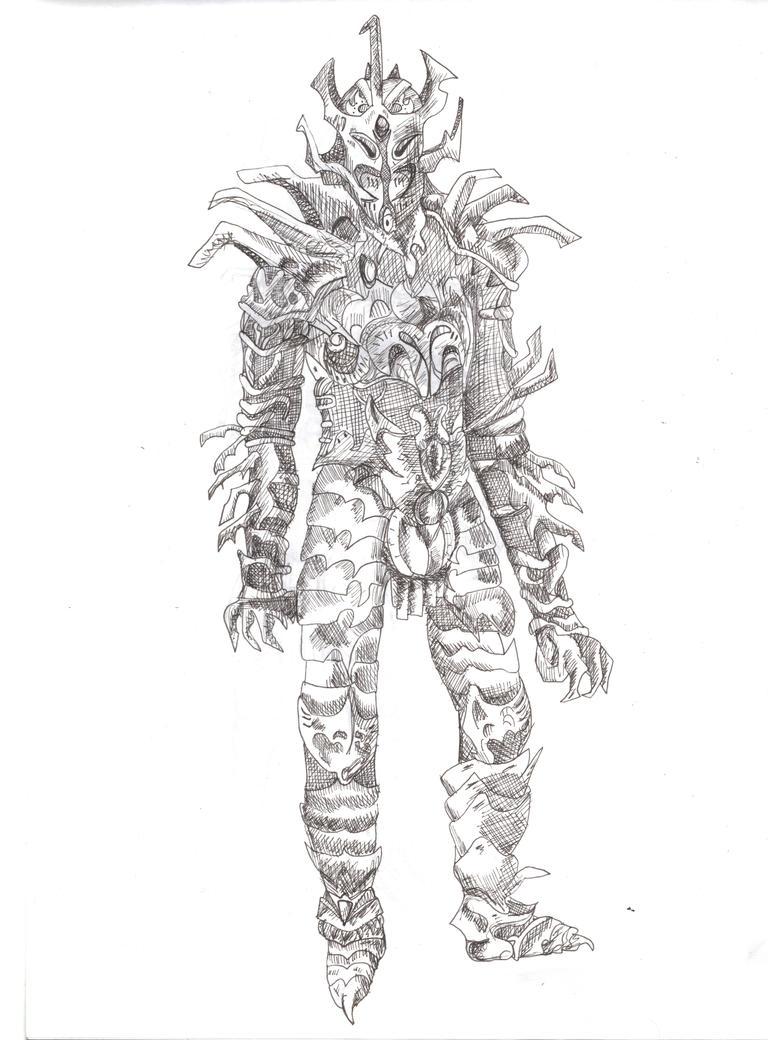 Daedric helmet drawing — photo 2