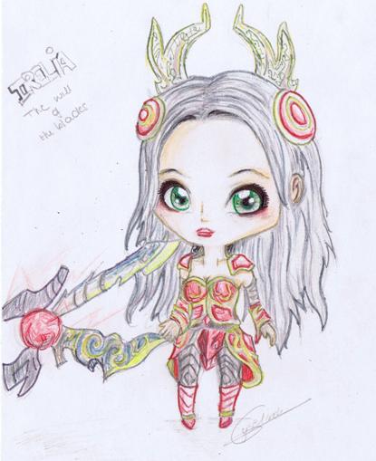League of Legends:Irelia Chibi by iEmme