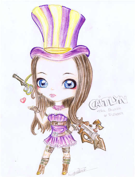 LoL: Caitlyn Chibi by iEmme on DeviantArt