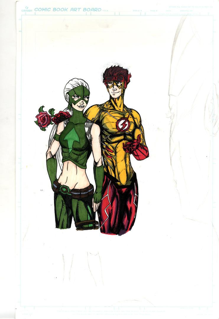 WIP Artemis Crock and Kid Flash Wally West by Matt-is ...