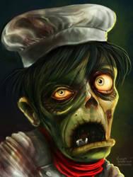 zombie cafe fan art by krayisako