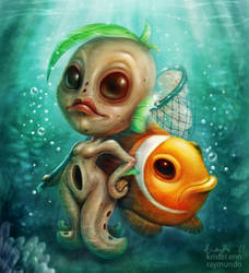 Jellyfishing by krayisako