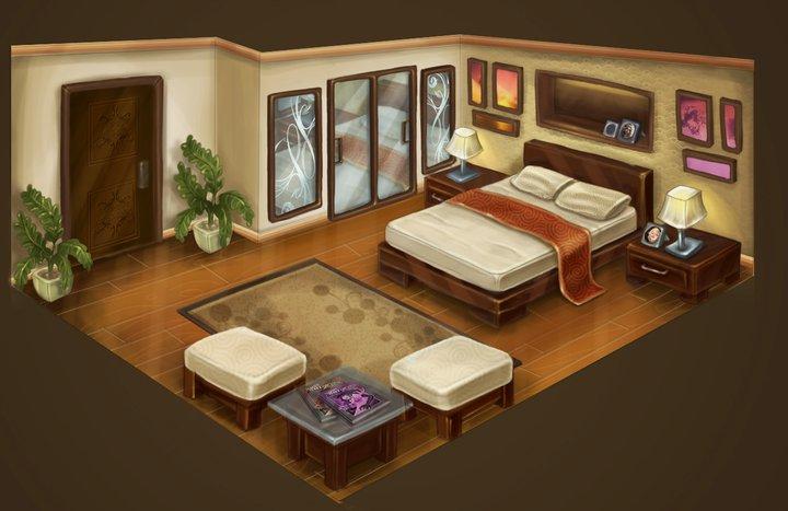 bedroom interior by krayisako