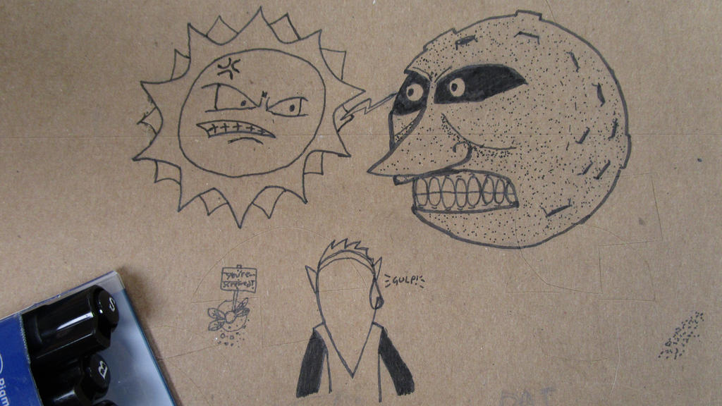 Desk doodle. by Axol-The-Axolotl