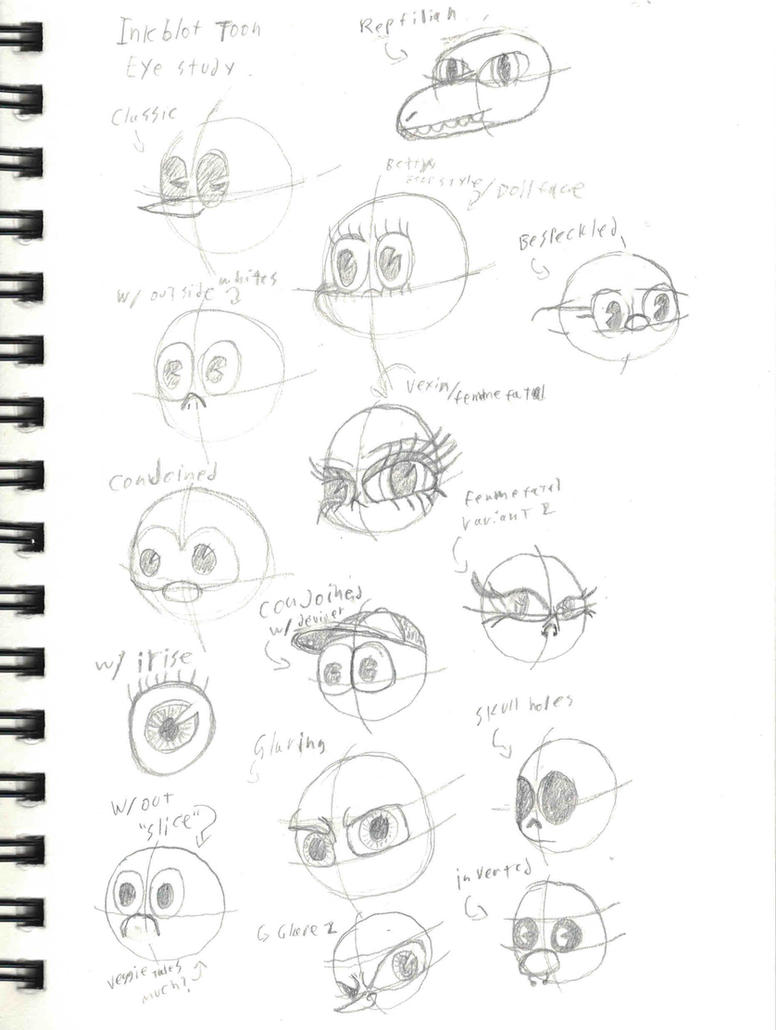 Rubber-hose Style Eye Study by Axol-The-Axolotl