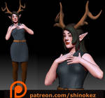 Faine- a deer like girl by Zosuhe-Ien