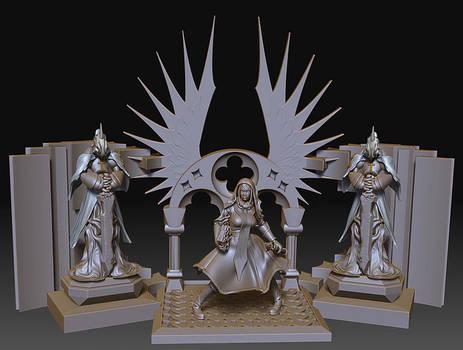 Diorama - Priest and Golem