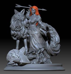 Huntress and Wolf companion-