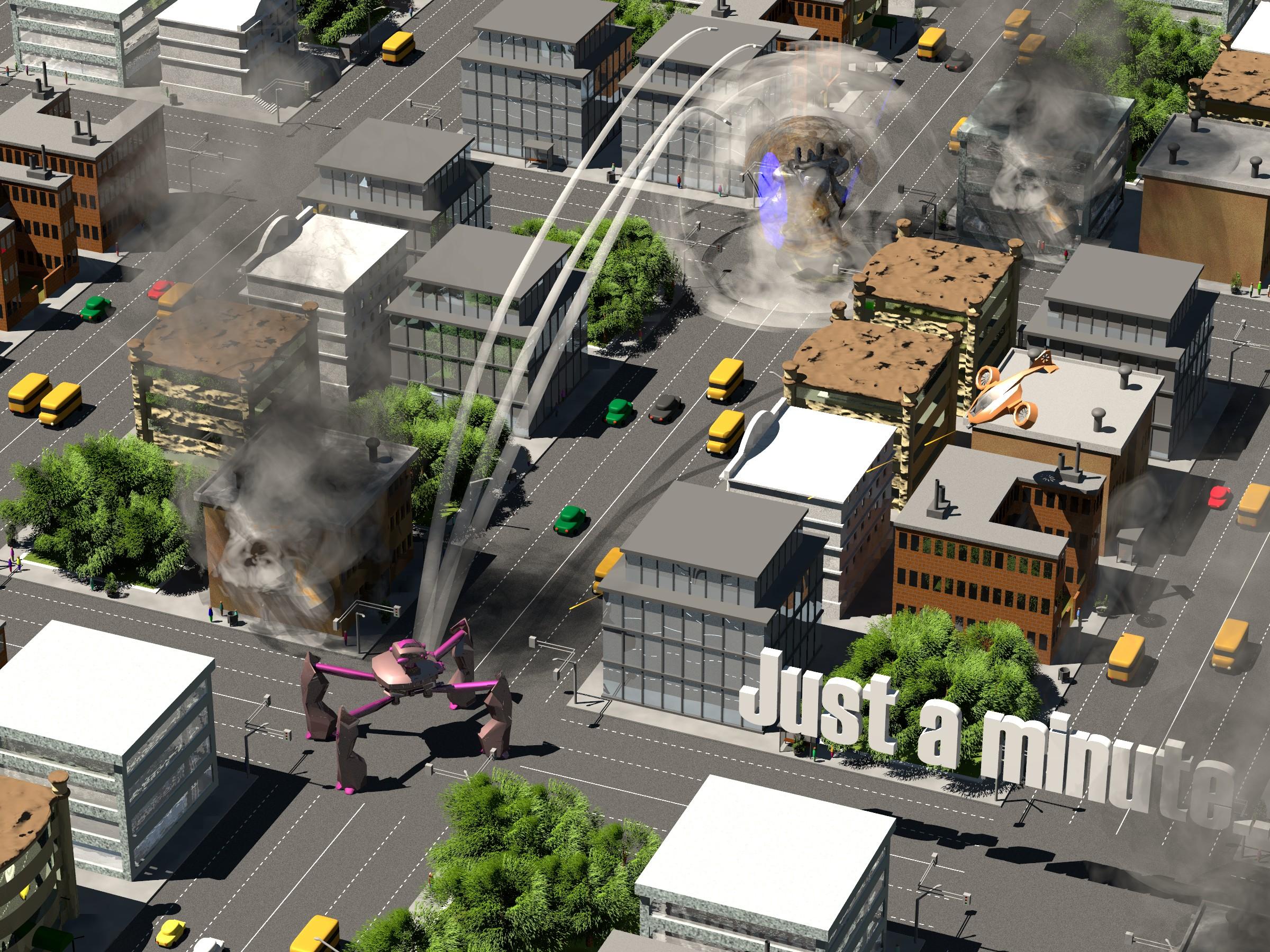 City scene for GearHead RPG