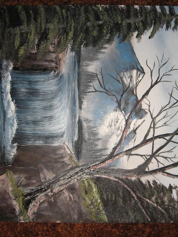Canvas Paper Landscape by twinket