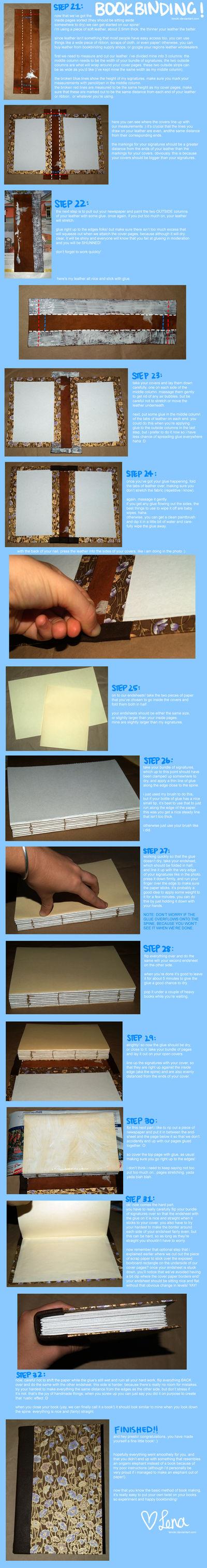 BOOKBINDING TUTORIAL part II by lenoki